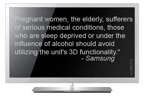 Trước khi sử dụng TV 3D, người dùng nên tham khảo hướng dẫn của nhà sản xuất. Ảnh: Gizmodo.