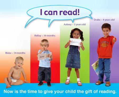 Trẻ có thể làm quen với việc đọc từ rất sớm