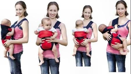 Bạn nên tránh địu em bé vào người khi bạn đang tập thể dục, đi xe đạp, chạy bộ, lái xe hay đi bất kỳ loại động cơ nào khác.