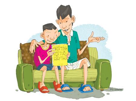 Khi con đến tuổi dậy thì, hãy quan tâm và sẻ chia với con.