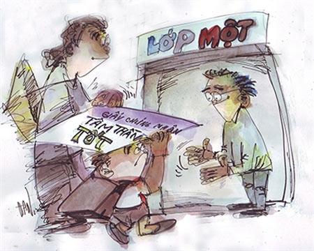 """Nhiều phụ huynh có con chuẩn bị vào lớp 1 nháo nhào đưa con đến phòng khám của các BV Nhi Đồng 1, 2 để xin """"giấy chứng nhận sức khỏe tâm lý..."""