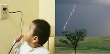Đề phòng sét đánh và tai nạn điện cho trẻ.