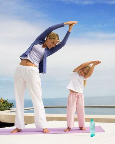 Tập thể dục đúng cách tốt cho sức khỏe của bé.