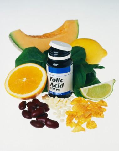 Các loại thực phẩm giàu acid folic.