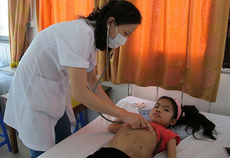 Sau hơn một tháng được ghép thận, hiện sức khỏe con gái chị Hương đang dần ổn định.