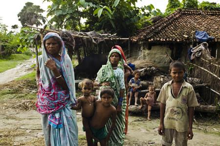 Trẻ em tại một ngôi làng nghèo ở Ấn Độ, nơi xảy ra nhiều vụ buôn bán người.