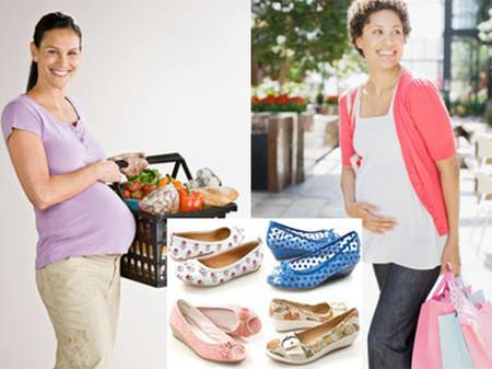 Một đôi giày búp bê đế bằng, rộng rãi và dễ xỏ giúp bà bầu đẹp và an toàn trong cả thai kỳ.
