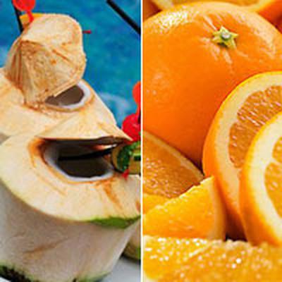 Nước dừa non và cam có thể đánh bay bệnh viêm đường tiết niệu khi mang thai.