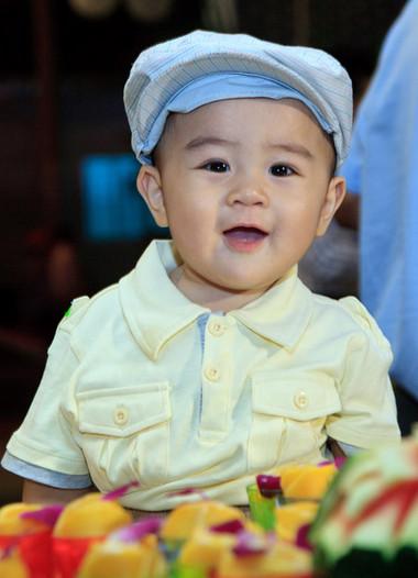 Huỳnh Hằng Hữu vừa tròn một tuổi.