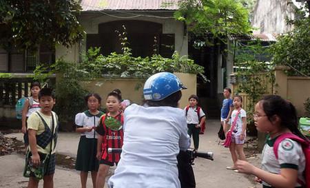 Một điểm dạy thêm học sinh tiểu học trên đường Nguyễn Trãi (Q.5, TP.HCM)
