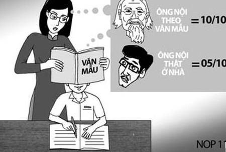 Cô giáo đang dạy học sinh kĩ năng... nói dối