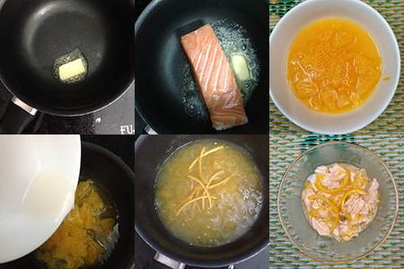 Cá hồi sốt cam, món ngon lại ngọt dịu cho bé ăn dặm tập nhai mềm