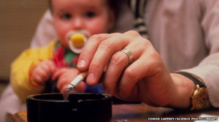 Trẻ em có cha mẹ hút thuốc lá dễ có nguy cơ bệnh tim và đột quỵ khi trưởng thành
