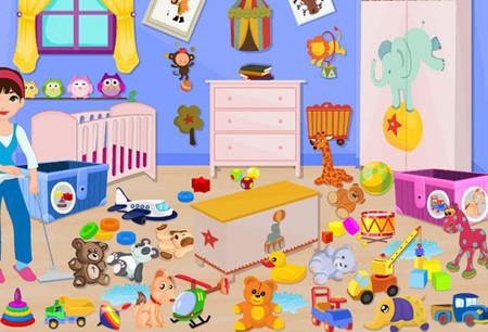 Sắp xếp lại những thứ lộn xộn là bước đầu tiên để làm sạch gọn phòng của bé.