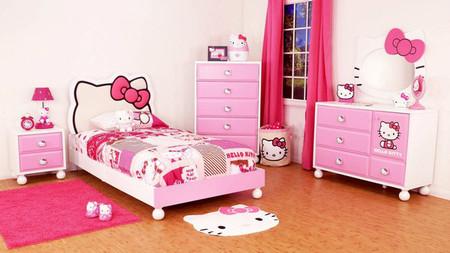 """Thiết kế phòng ngủ với hình ảnh của Hello Kitty rất thú vị và cực kỳ sáng tạo và đầy """"cám dỗ""""."""