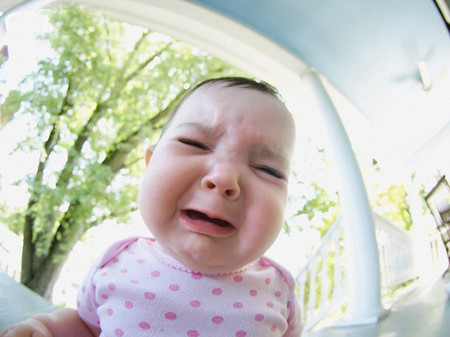 Crying Baby --- Image by © Ann Thomas/Corbis