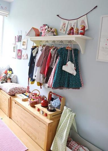 Sắp xếp không gian lưu trữ hợp lý cho bé